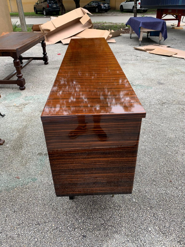 Fine French Vintage Macassar Ebony Buffet / Sideboard / Credenza For Sale 6