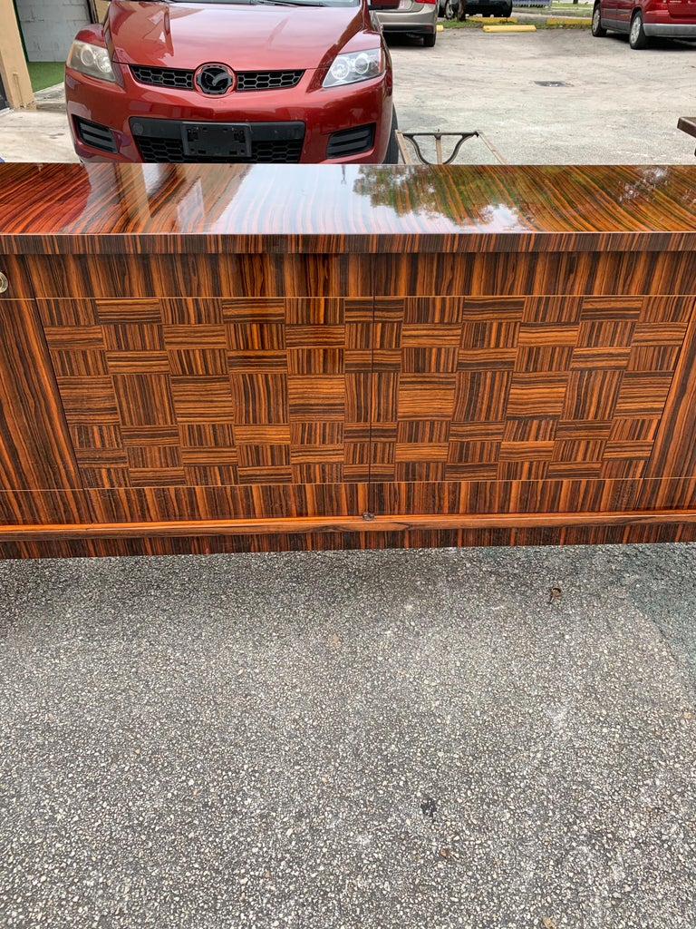 Fine French Vintage Macassar Ebony Buffet / Sideboard / Credenza For Sale 8