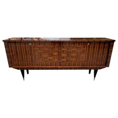 Fine French Vintage Macassar Ebony Buffet / Sideboard / Credenza