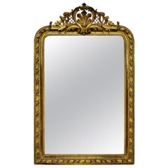 Fine French Water Gilded Overmantel Mirror