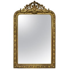 Fine French Water Gilded Overmantle Mirror