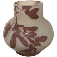 Fine Galle Cameo Glass Cabinet Vase