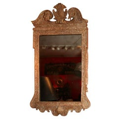 Fine George II Gesso Carved and Gilt Mirror