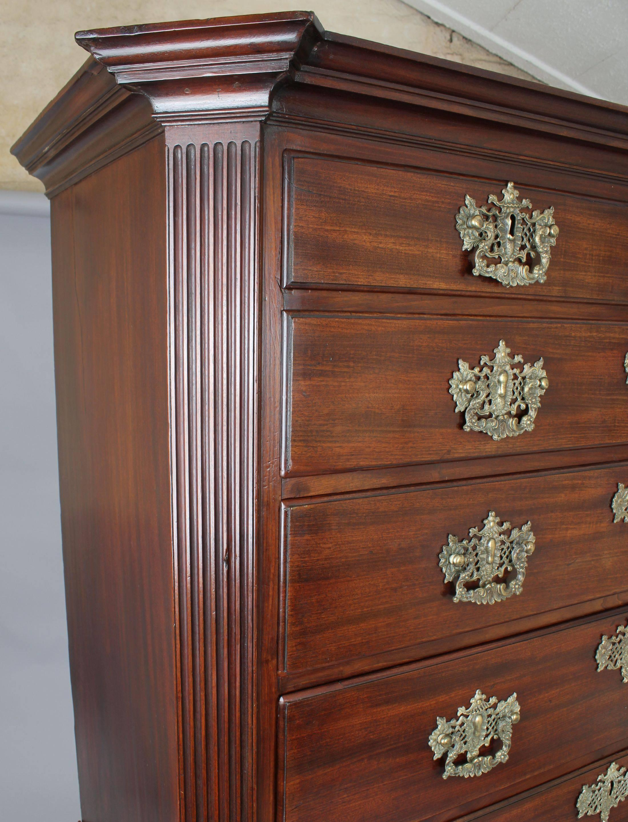 Fine George II Period Mahogany Chest-on-Chest