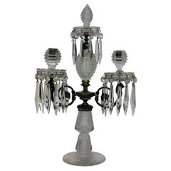 Fine George III Cut Glass Candelabrum