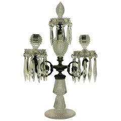 Fine George III Cut-Glass Candelabrum