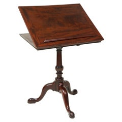 Fine George III Mahogany Reading Stand and Table
