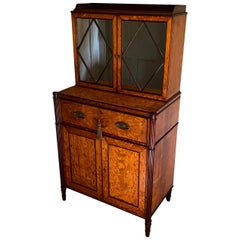 Fine George III Period Satinwood Secrétaire Cabinet