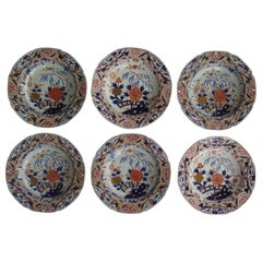 Fine Georgian Set of Six Mason's Ironstone Soup Bowls or Plates, circa 1818