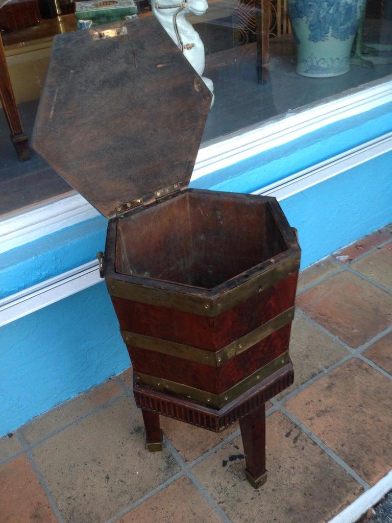 Brass Fine Georgian Wine Cooler For Sale