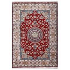 Fine Gharebaghi Vintage Tabriz Persian Rug. Size: 8 ft 3 in x 11 ft 9 in
