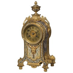 Fine Gilt Bronze and Champlevé Enamel Clock, circa 1880