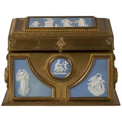 Fine Gilt Bronze and Wedgwood Two-Handled Casket, circa 1875