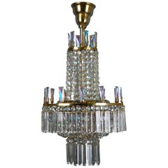 Fine Glass Chandelier by Oswaldt Haerdtl for Lobmeyr, Vienna, circa 1960s