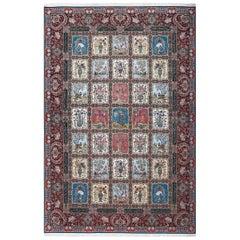 Fine Golestan Design Vintage Tabriz Persian Rug. Size: 10 ft 7 in x 15 ft 11 in