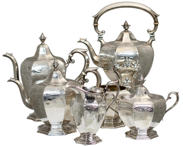 20th Century Fine Gorham Sterling Silver Tea and Coffee Service For Sale