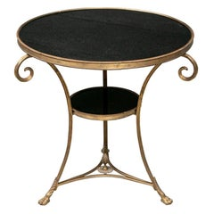 Fine Guéridon Stone Top Table in Hollywood Regency Style