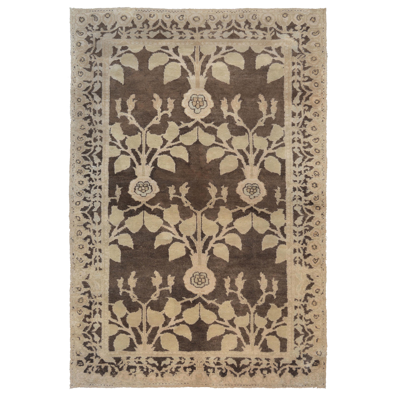 Fine Handwoven Arts & Crafts Voysey Rug