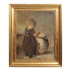 "Fine Impressionist Painting by Julius Paulsen, Signed ""Jul. Paulsen 1916"""