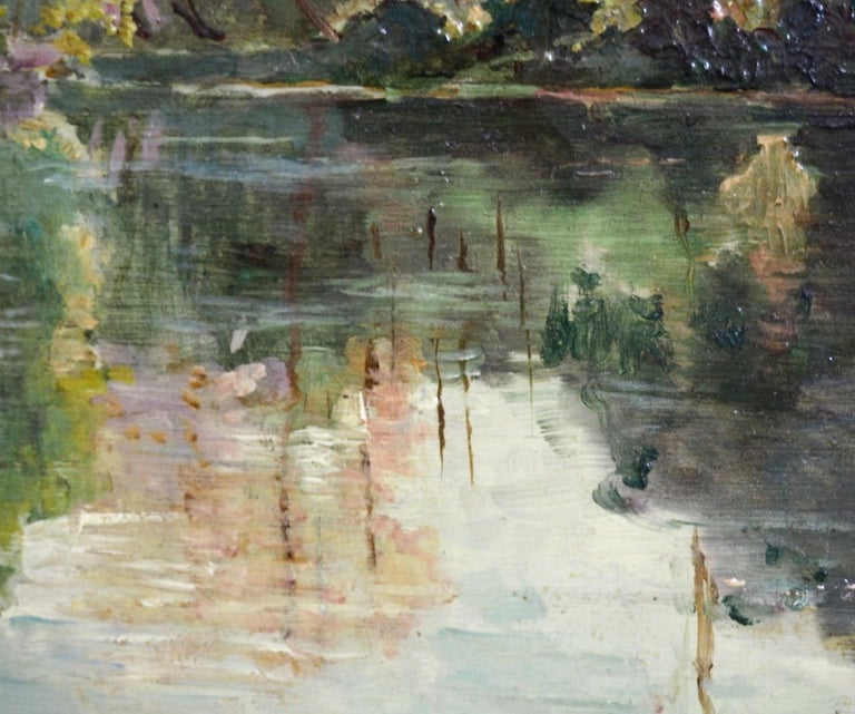 Scandinavian Fine Impressionistic Painting, Oil on Canvas For Sale