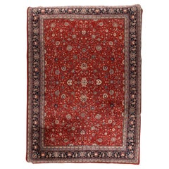 Fine Indo Persian Kashan Design Rug, Hand Knotted