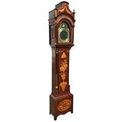 Fine Inlaid George III Longcase Clock with Automaton Movement, circa 1780
