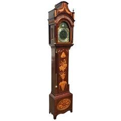 Fine Inlaid George III Longcase Clock with Automaton Movement, circa 1780