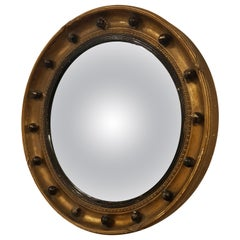 Fine Irish 19th Century Gilt Convex Mirror