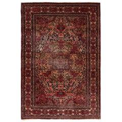 Fine Isfahan Persian Antique Persian Rug