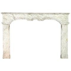 Fine Italian Antique Marble Fireplace Surround