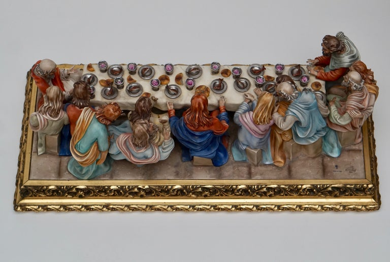 "Fine Italian Capodimonte ""The Last Supper"