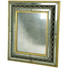 Fine Italian Murano Glass and Wood, 1930s Wall Mirror