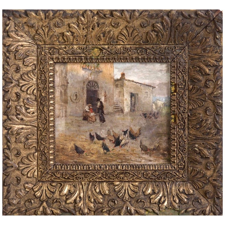 Fine Italian Painting, 19th Century For Sale