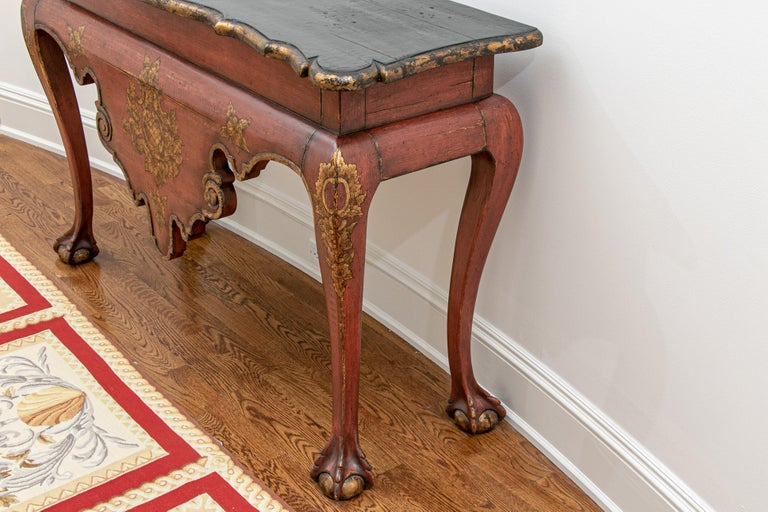 Fine Italianate Carved and Decorated Console Table For Sale 1