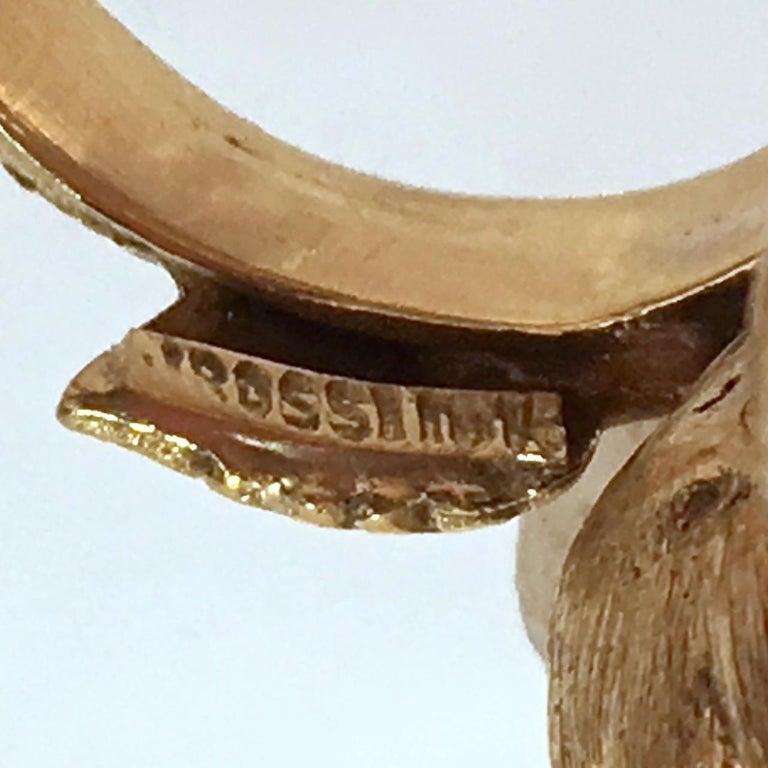 Fine J Rossi 18 Karat Gold and Turquoise Cluster Figural Flower Ring For Sale 10