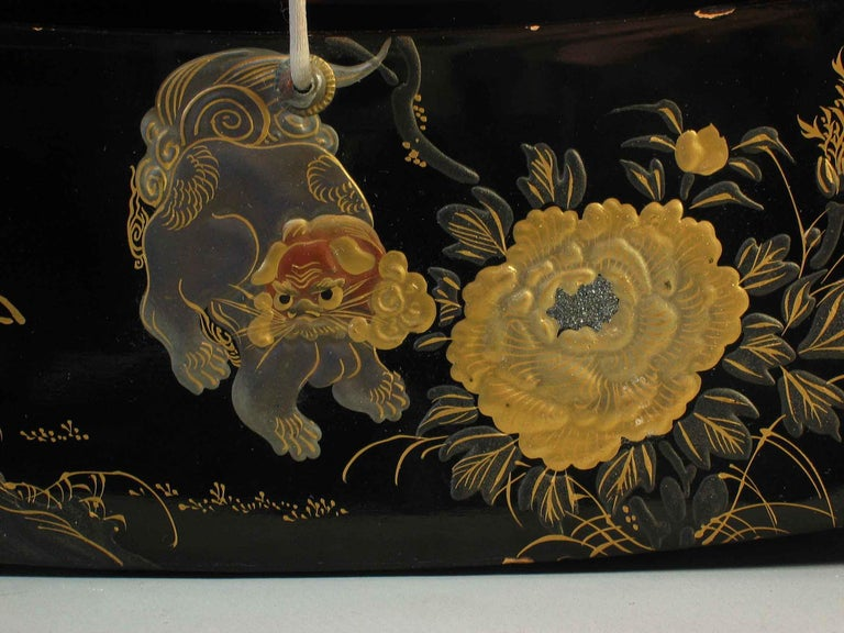 Fine Japanese Lacquer Takamakura Geisha Pillow, First Half of the 20th Century For Sale 1