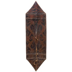 Fine Jelutong Wood Borneo Dayak Kliau or Shield, First Half of the 19th Century