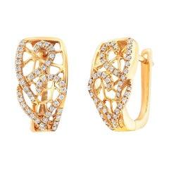Fine Jewellery Diamond Yellow Gold Earrings
