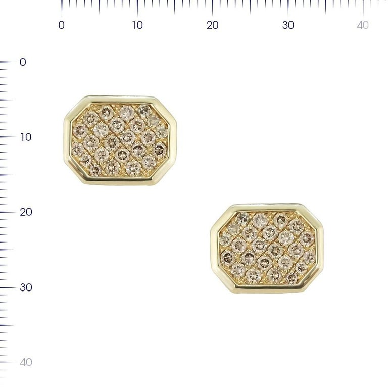 Cufflinks Yellow Gold 14 K  Diamond 36-RND-1,55-I/VS2A  Diamond 12-RND-0,31-I/VS2A   Weight 8.03 grams  With a heritage of ancient fine Swiss jewelry traditions, NATKINA is a Geneva based jewellery brand, which creates modern jewellery masterpieces