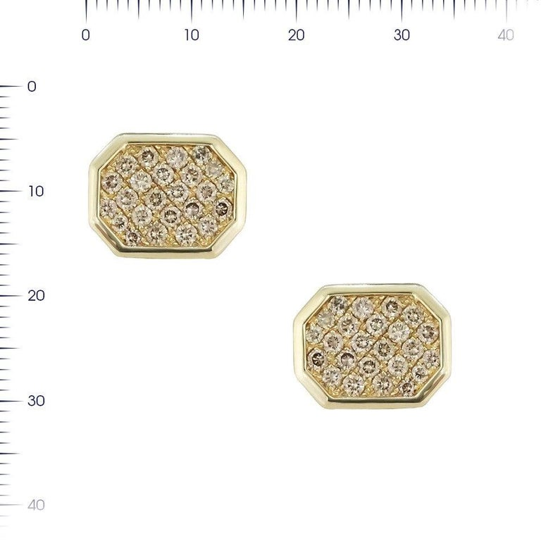 Fine Jewelry Yellow Gold Statement Cufflinks In New Condition For Sale In Montreux, CH