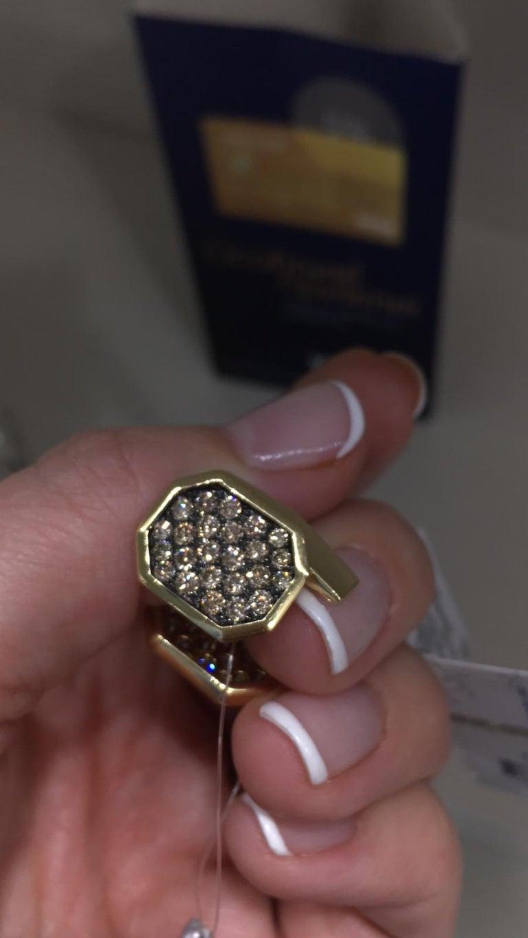 Fine Jewelry Yellow Gold Statement Cufflinks For Sale 1