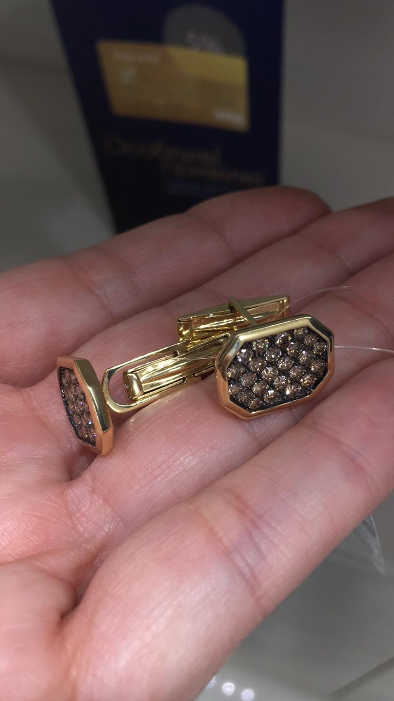 Fine Jewelry Yellow Gold Statement Cufflinks For Sale 2