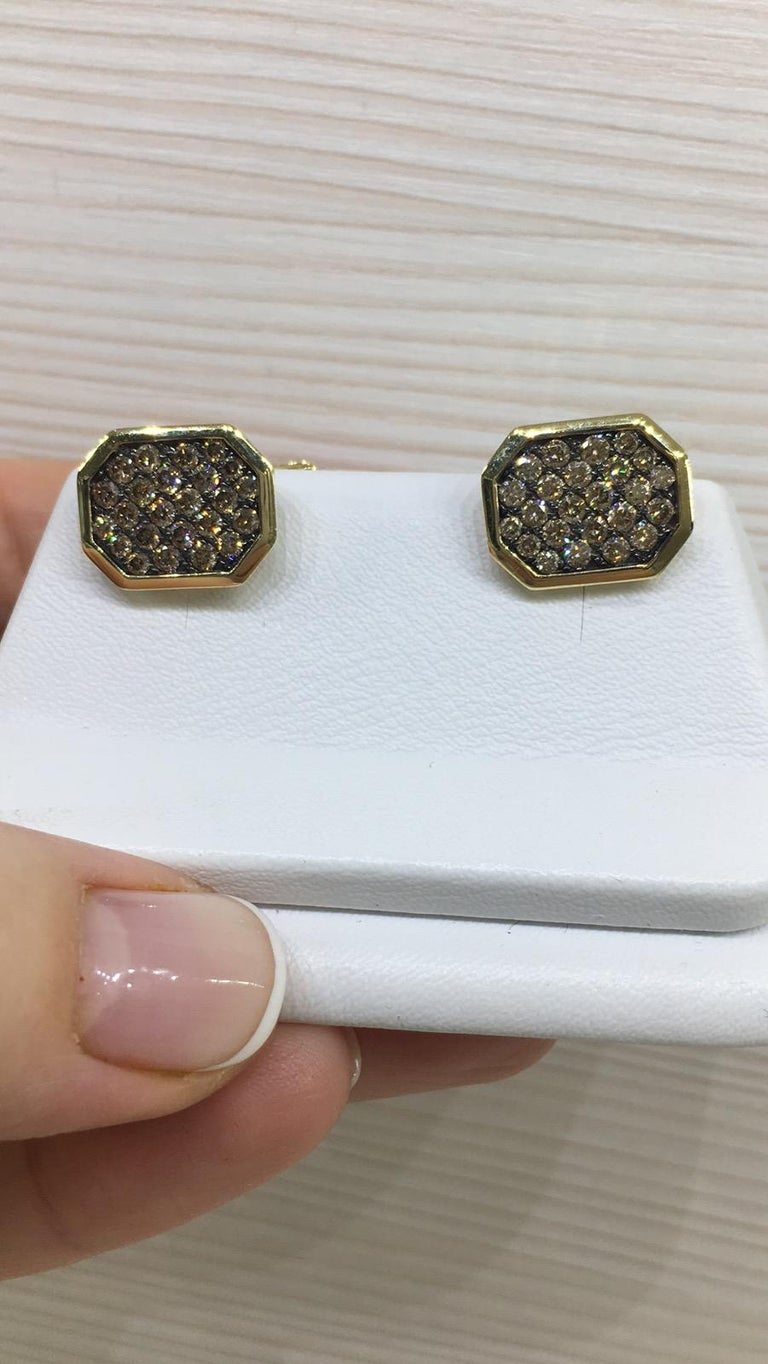 Fine Jewelry Yellow Gold Statement Cufflinks For Sale 3