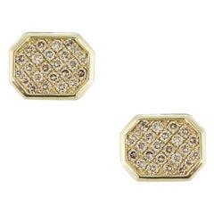 Fine Jewelry Yellow Gold Statement Cufflinks