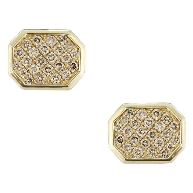 Fine Jewelry Yellow Gold Statement Cufflinks For Sale