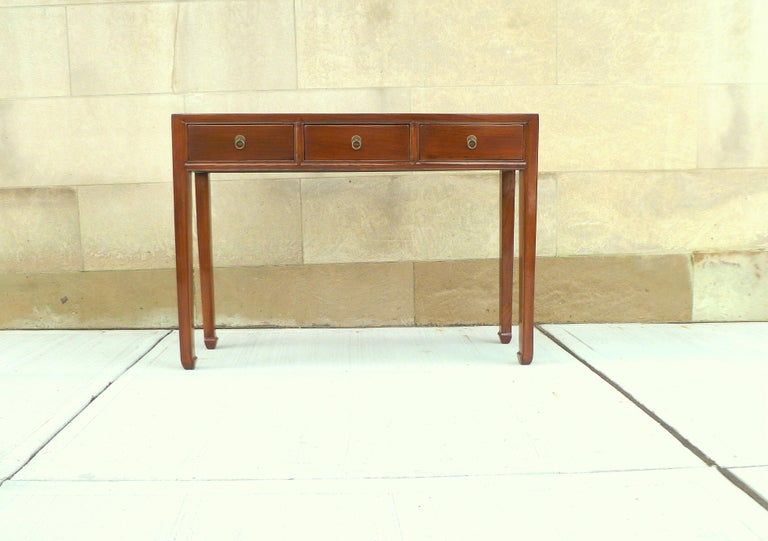 Fine jumu wood console table with four drawers. Simple and elegant console table, beautiful color. We carry fine quality furniture with elegant finished and has been appeared many times in