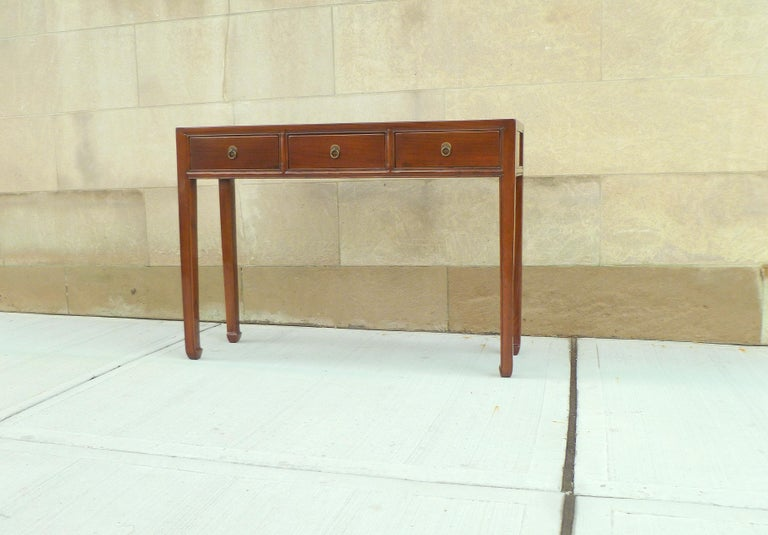 Chinese Fine Jumu Console Table with Drawers For Sale
