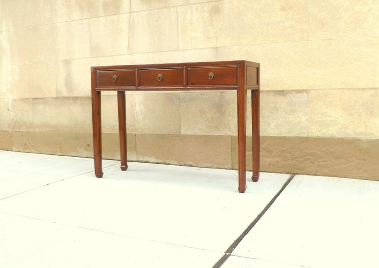 Polished Fine Jumu Console Table with Drawers For Sale