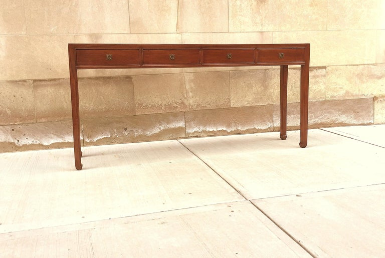Fine Jumu Console Table with Drawers In Excellent Condition For Sale In Greenwich, CT