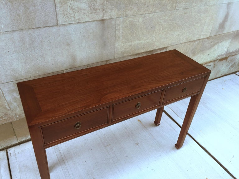 Mid-20th Century Fine Jumu Console Table with Drawers For Sale